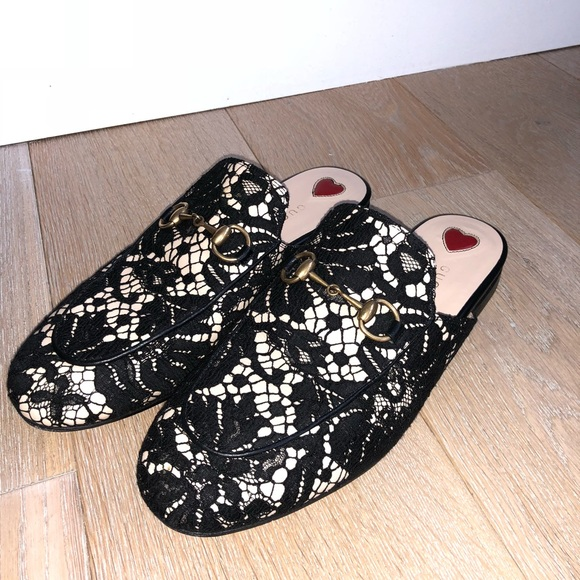 f77dc6e5614 Gucci Shoes - Gucci Lace Princetown Loafer Mule